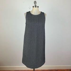 LOFT Black & White Chevron Shift Dress